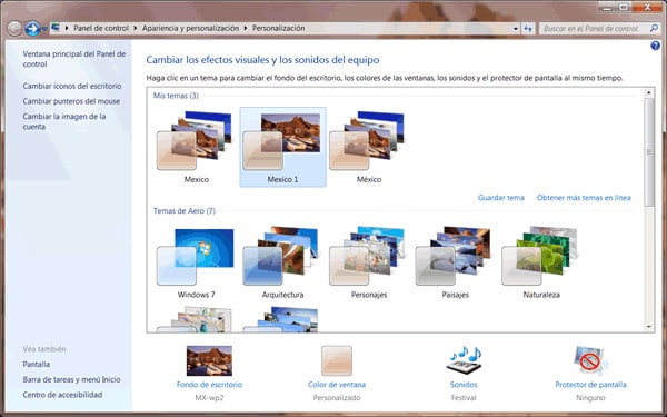 Photo of Activar uno de los temas ocultos en Windows 7