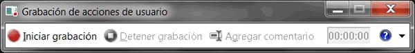 Grabacion de acciones de usuario