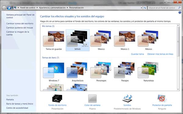 Personalizar pantalla