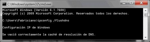 Borrar caché DNS