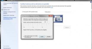 Ajustar el tamaño del texto en Windows 7