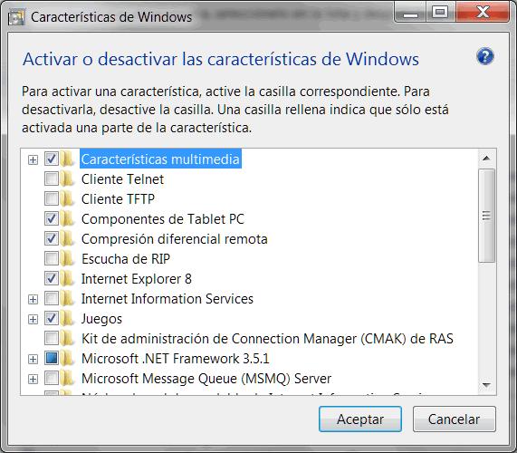 Características Windows