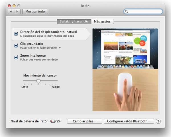 Activar botón derecho del ratón en Mac