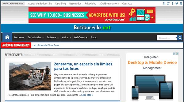 Dos recuadros destinados a resaltar contenido en una web