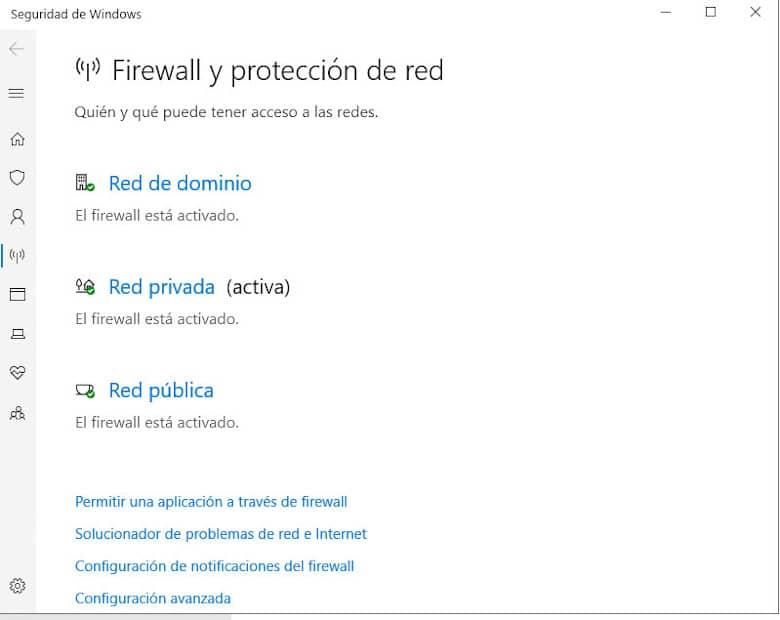 Firewall y protección de red