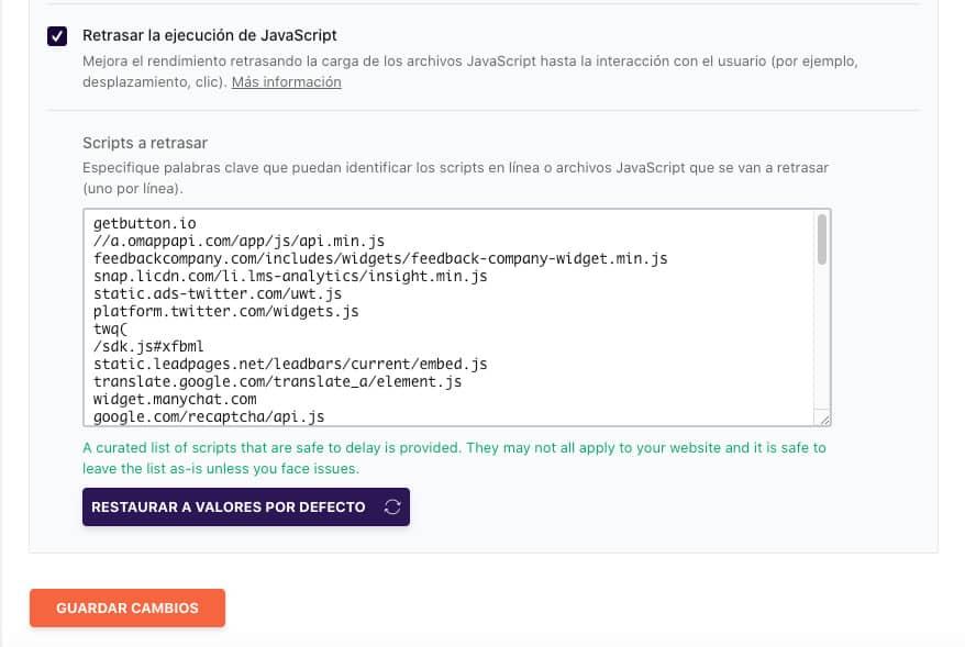 Retrasar la ejecución de JavaSript