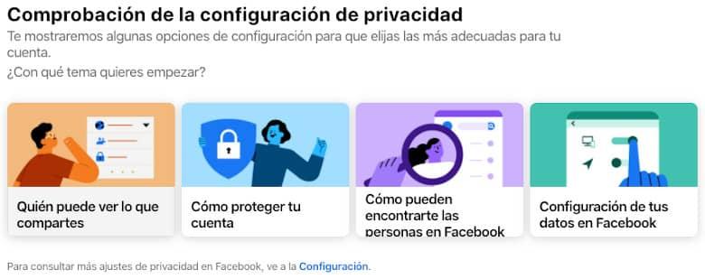 Comprobación de la configuración de privacidad
